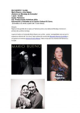 EN CUERPO Y ALMA Mario Bueno y Ana Nájera ¡Estreno en Moraleja de Enmedio!