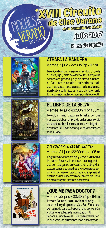 XVIII Circuito de Cine de Verano Julio 2017