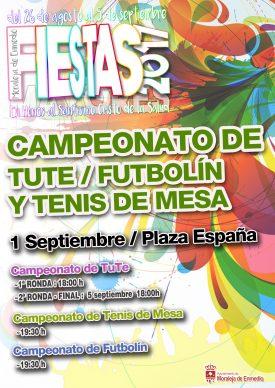 Campeonato de Tute / Futbolín y Tenis de Mesa